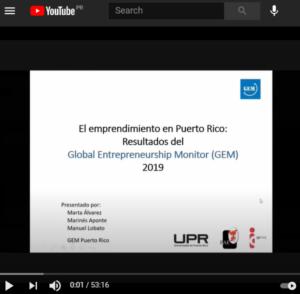 Youtube – presentación GEM 2019